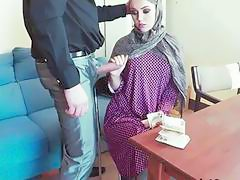 Pretty Arab Zoe Sucks Huge Cock For Money