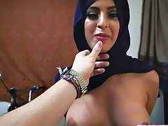 Sexy hot chick Arab loves a huge hard cock to fuck